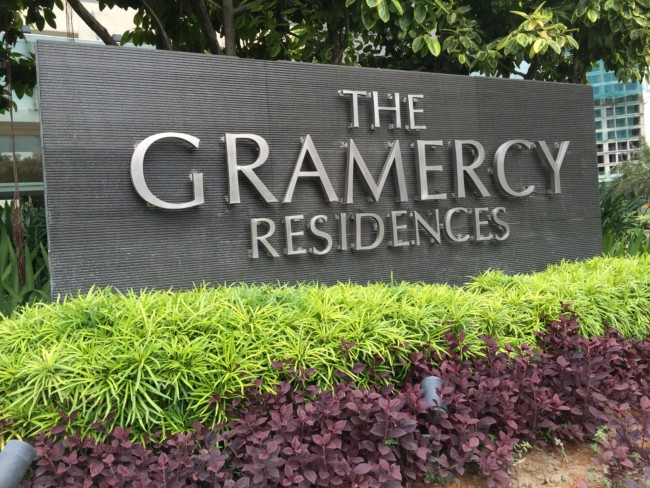 the-gramercy-residences-sign-outside